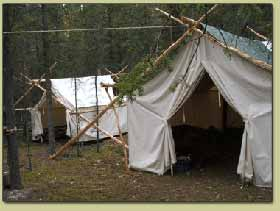 Outfitters Hunting Wall tent in Alaskan Outfitter's Hunting Camp
